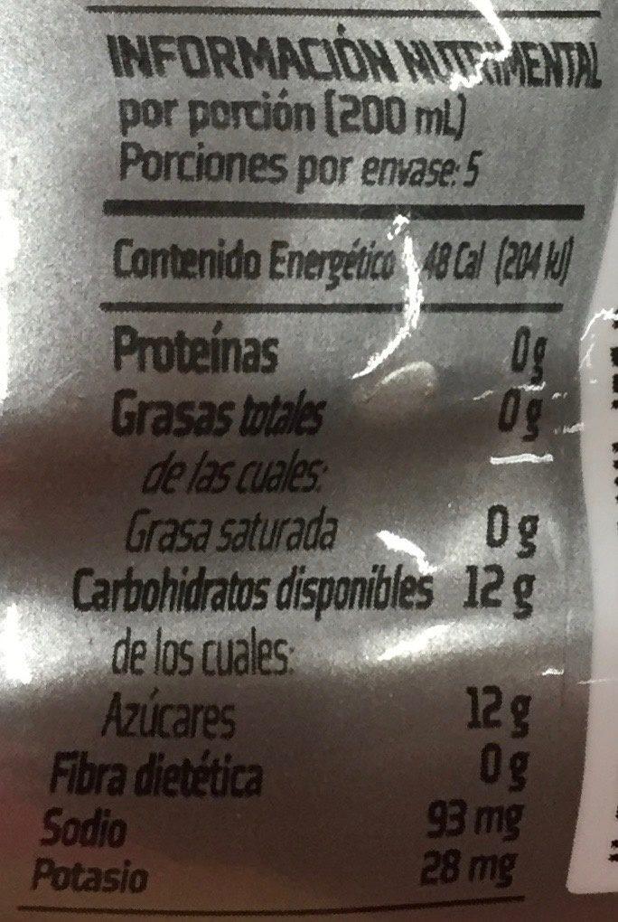 Gatorade Sabor Naranja - Voedingswaarden