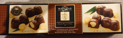Milk chocolate covered macadamia nuts wholes and halves - Product