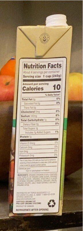 Chicken broth - Informations nutritionnelles - en