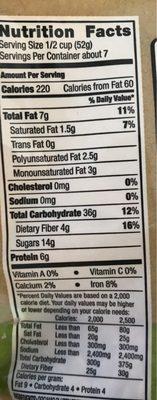 Triple Berry Granola - Nutrition facts - en