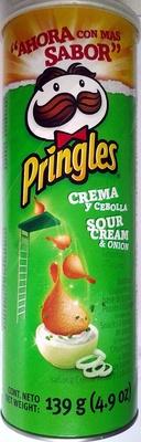 """Aperitivo de patatas """"Pringles"""" Sabor crema y cebolla - Product - es"""