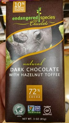 72% cocoa hazelnut toffee   dark chocolate - Product - en