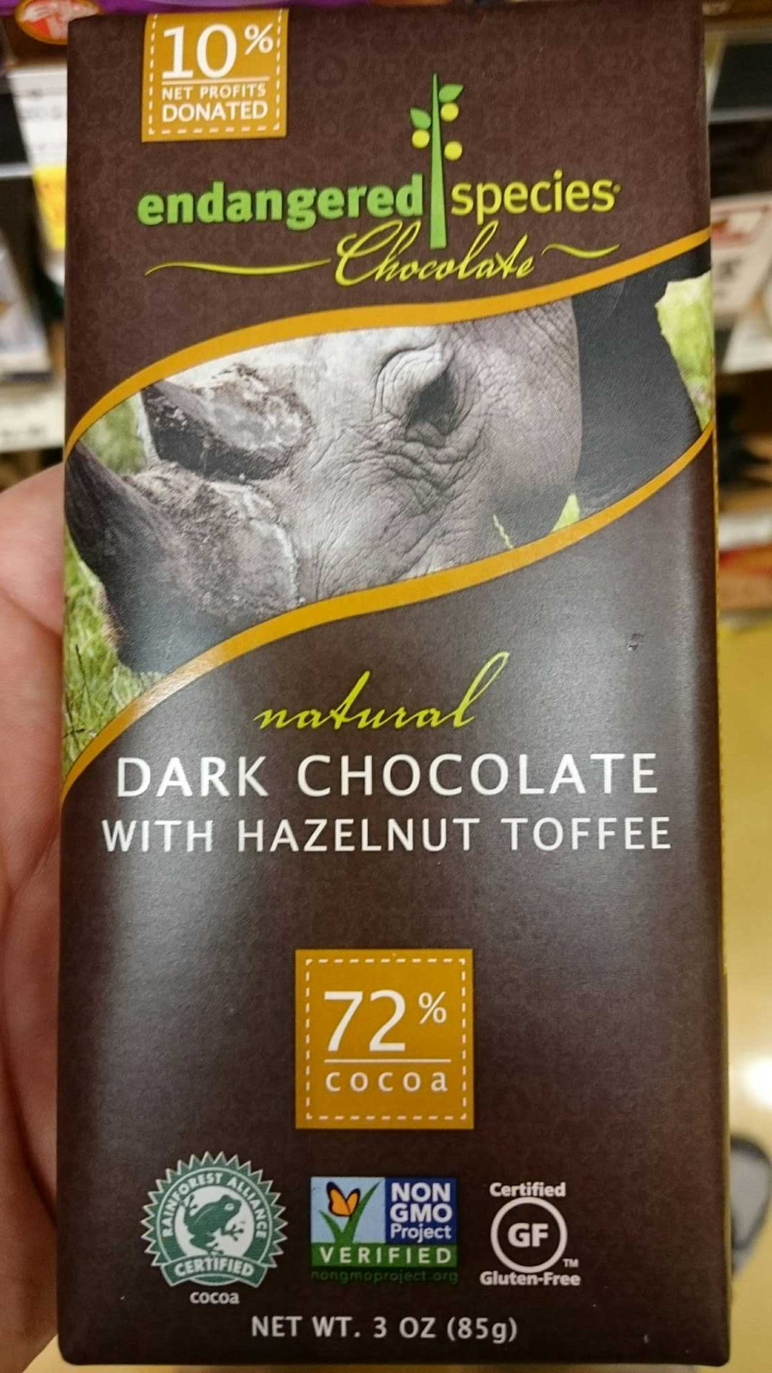 72% cocoa hazelnut toffee   dark chocolate - Product - en