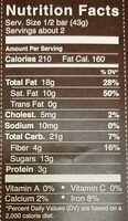 72% cocoa hazelnut toffee   dark chocolate - Nutrition facts - en