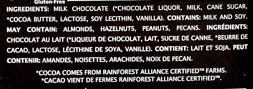 48% cocoa smooth + creamy milk chocolate - Ingredients - en
