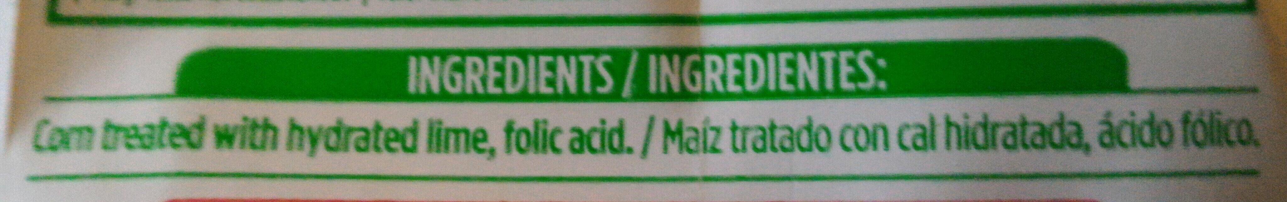 Gluten free instant corn masa flour - Ingredientes - es