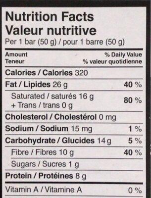 Tablette de chocolat Excellence 99% Cacao - Nutrition facts - en