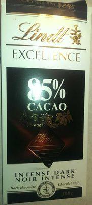 Chocolat Noir Intense 85% - Produit - fr