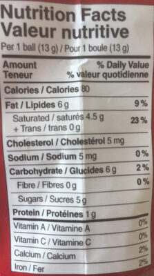 Lindor - Nutrition facts - en