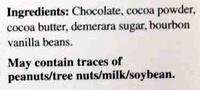 85% cocoa dark chocolate - Ingredients - en