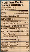 Lindt chocolat au lait et noisettes - Nutrition facts - en