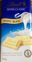 Chocolat blanc suisse - Product