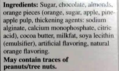 Excellence intense orange dark chocolate - Ingredients - en