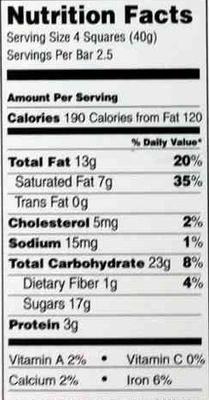 Excellence intense orange dark chocolate - Nutrition facts - en