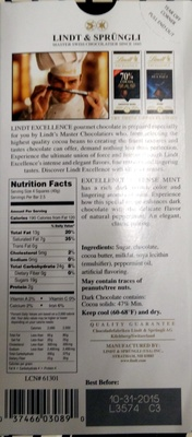 Lindt Excellence Intense Mint - Product