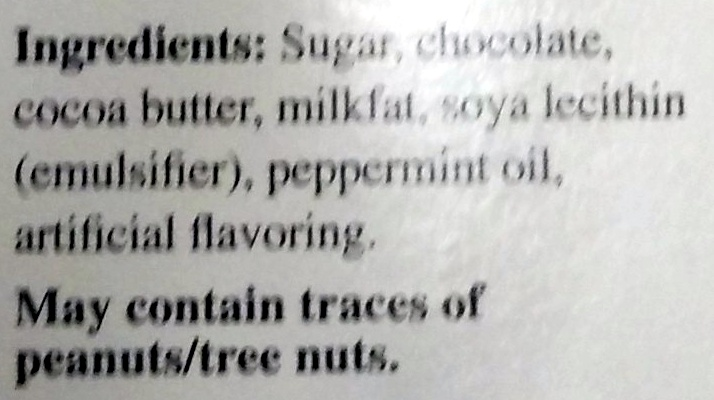 Lindt Excellence Intense Mint - Ingredients