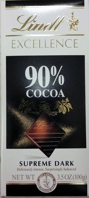 90% cocoa dark chocolate - Product - en