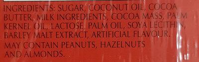 Lindor - Ingredients - en
