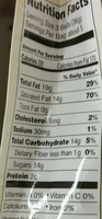 White chocolate truffles, white chocolate - Nutrition facts - en