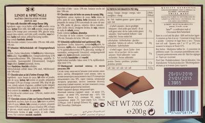Swiss thins - Milk Orange - Product