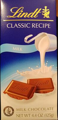Milk chocolate classic recipe, milk chocolate - Product - en