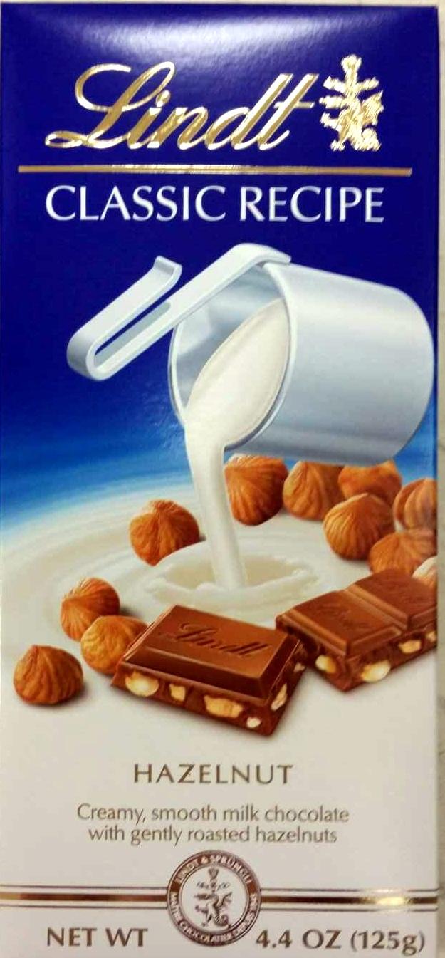 Hazelnut classic recipe milk chocolate - Product - en