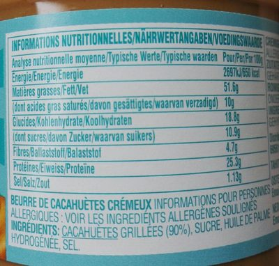 Creamy - Nutrition facts