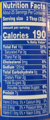 Super chunk peanut butter - Informations nutritionnelles - fr