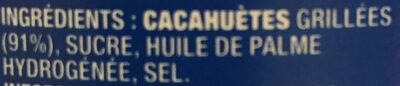 Beurre de Cacahuètes Extra-Crunchy - Ingredienti - fr