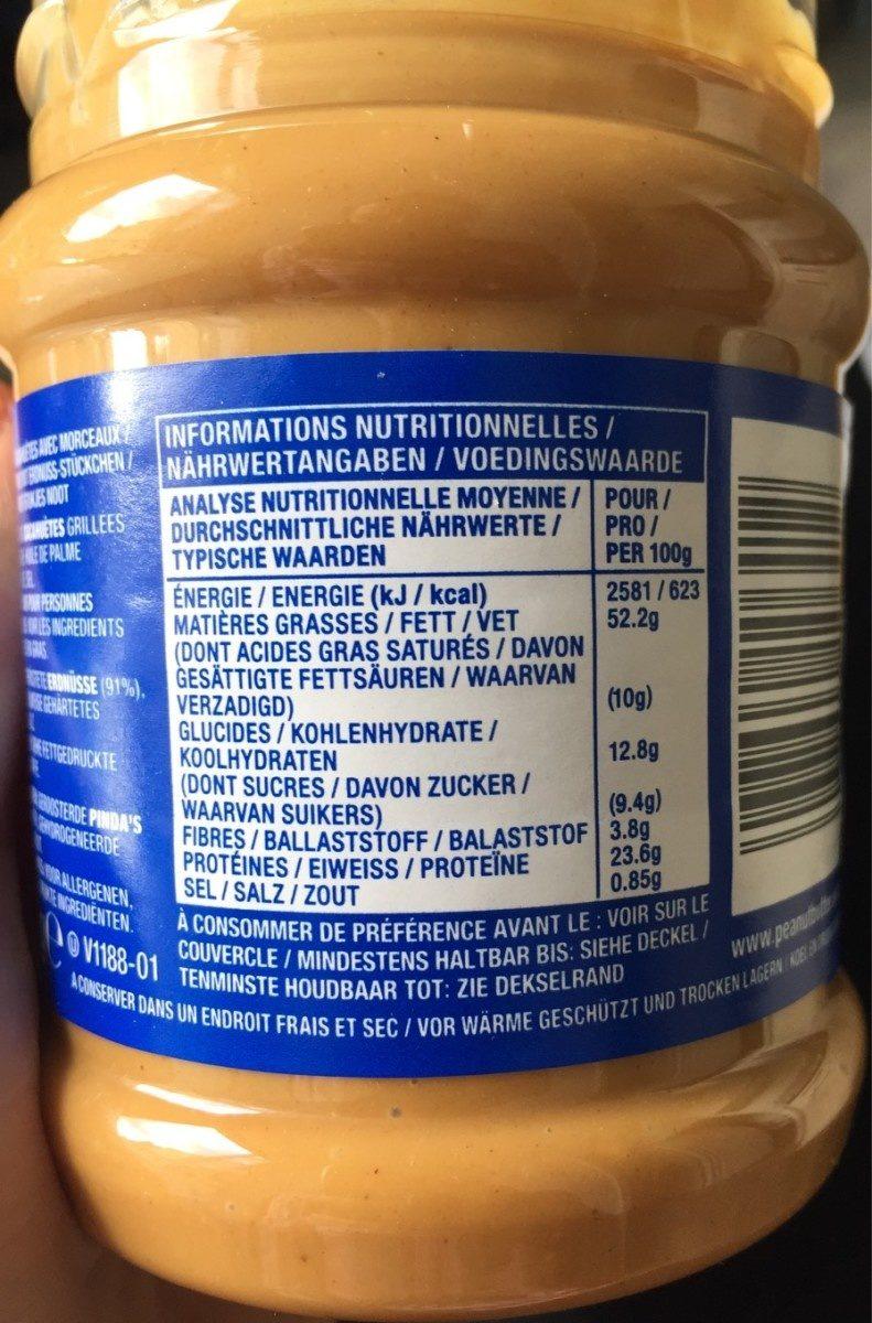 Beurre de Cacahuètes Extra-Crunchy - Informazioni nutrizionali - fr