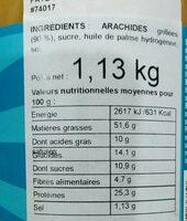 Beurre de cacahuètes Skippy - Informations nutritionnelles - fr