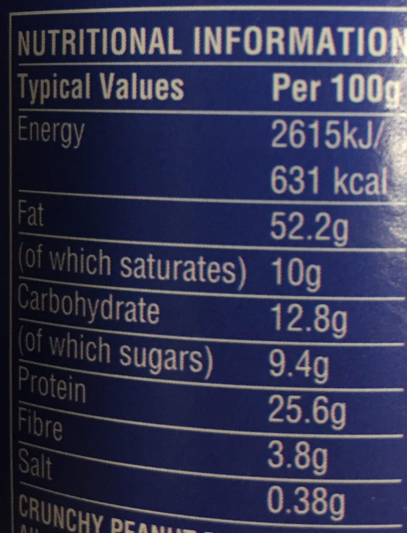 Skippy Extra Crunchy Peanut Butter 1.13KG - Nutrition facts - fr
