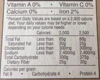 Smoked deli Ham - Nutrition facts