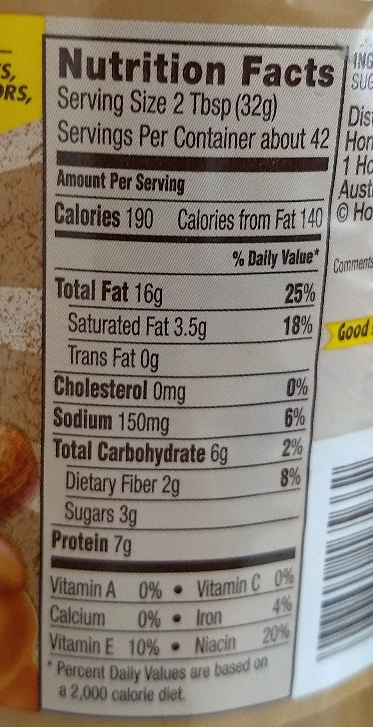 skippy natural creamy peanut butter - 1.36 kg