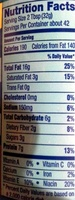 Creamy Peanut Butter - Informations nutritionnelles - en
