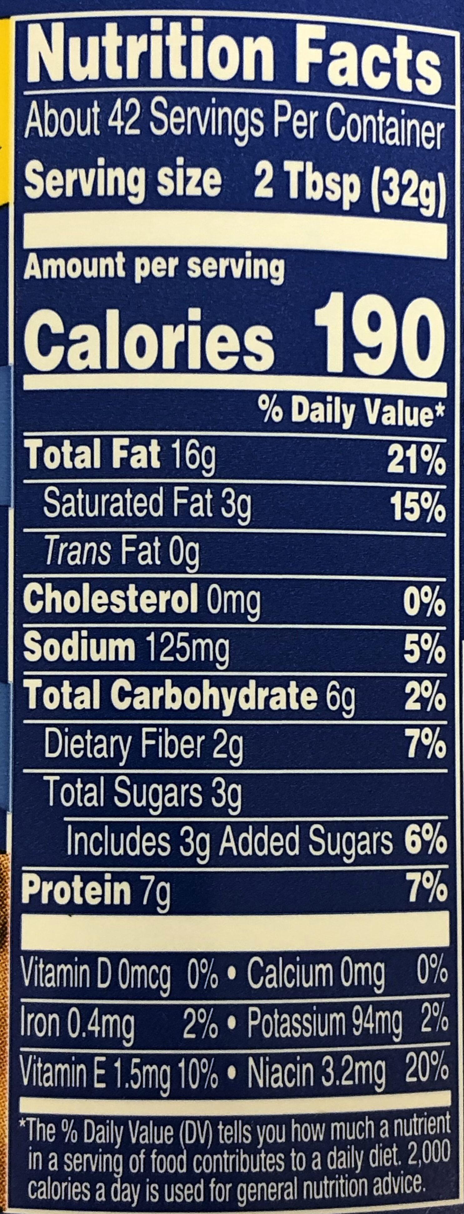 Super Chunk Peanut Butter - Nutrition facts