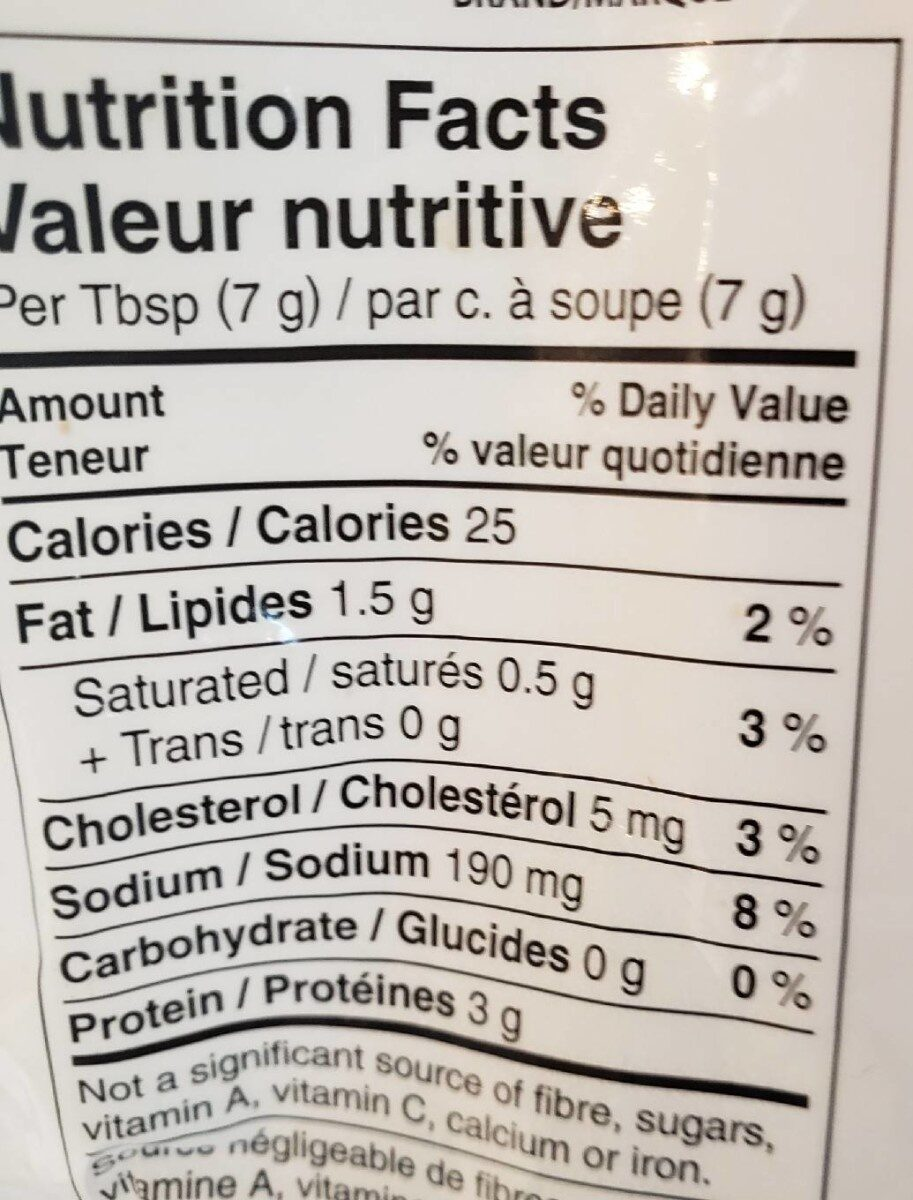 real crumbled bacon - Valori nutrizionali - fr