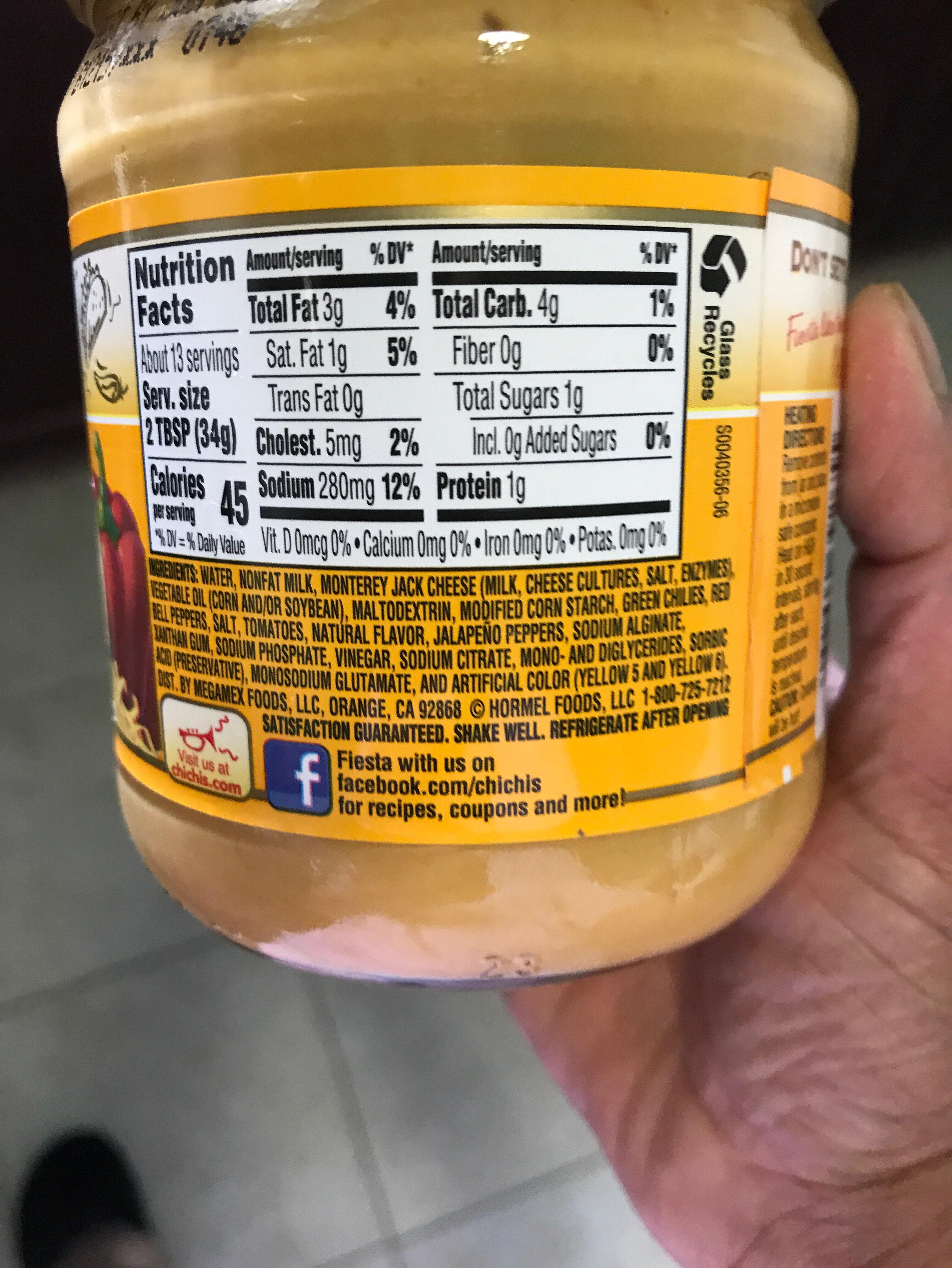 Salsa con queso - Ingredients - en