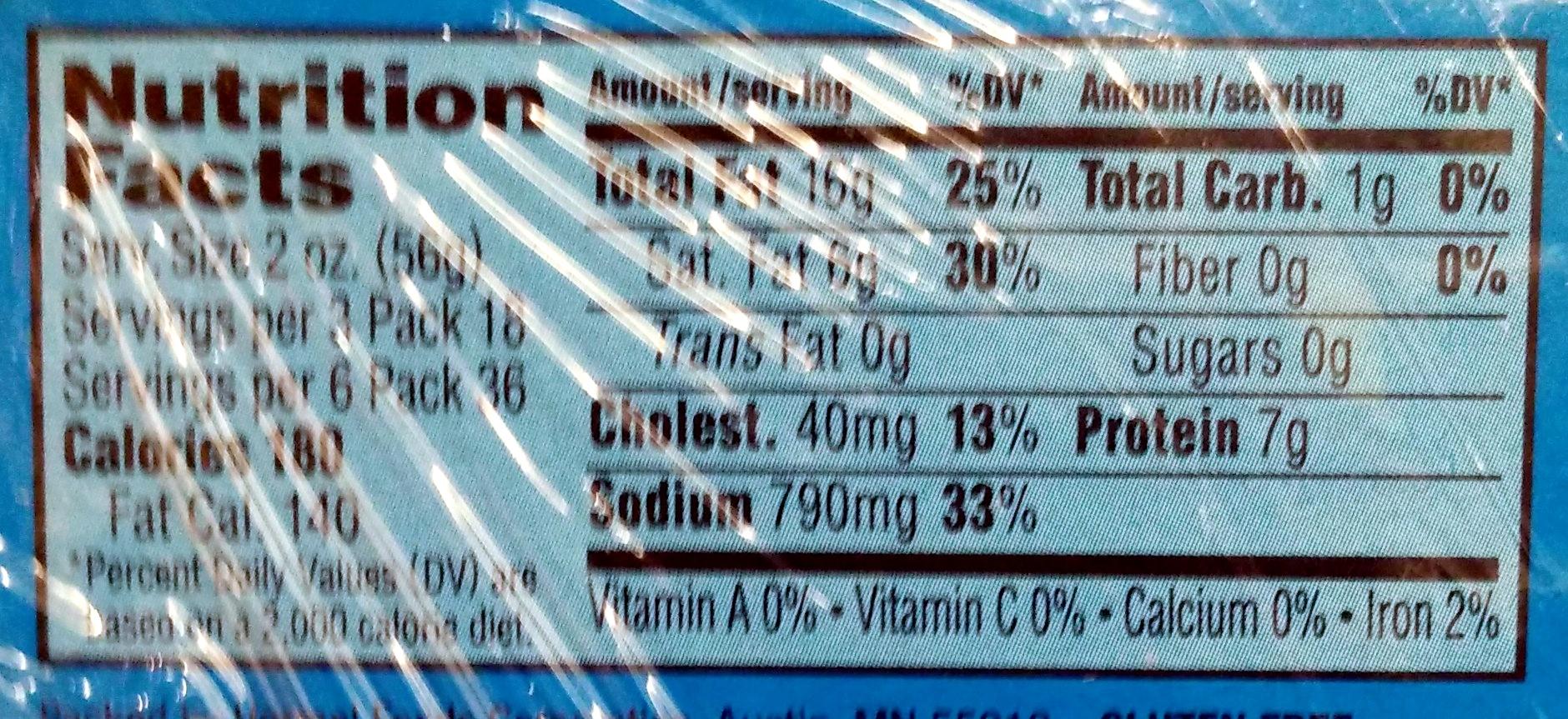 Spam Classic - Informations nutritionnelles