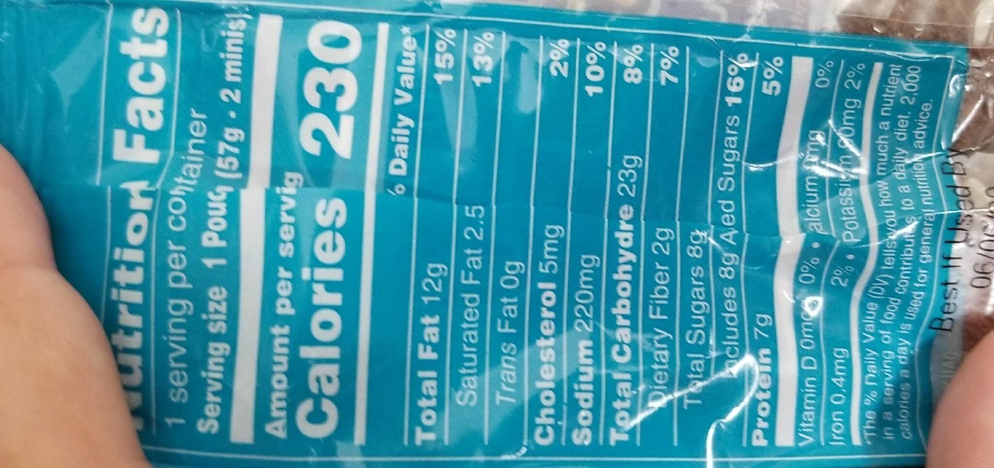 Skippy PB + Jelly Minis - Informations nutritionnelles - en