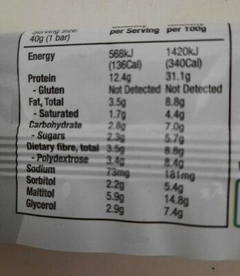 Protein Bar Raspberry Cheesecake - Nutrition facts - en