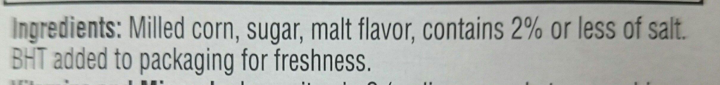 Corn flakes cereal - Ingredients - en