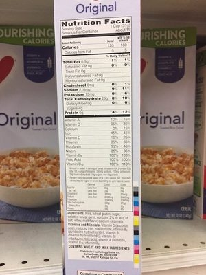 Toasted rice cereal - Ingrédients