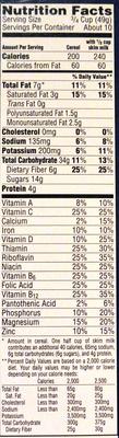 Cereal - Informations nutritionnelles - en