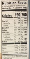 Flatbread Bacon, Egg, & Cheese Sandwich - Nutrition facts - en