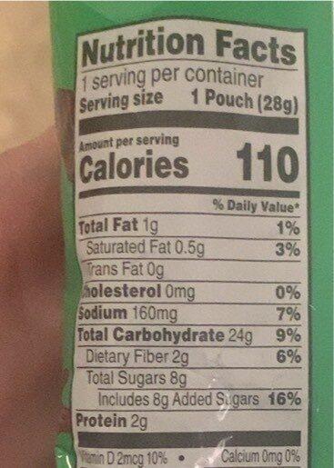 Kellogg'S Apple Jacks Cereal Reduced Sugar 1Oz - Valori nutrizionali - en