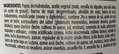 Potato crisps, cheddar & sour cream - Ingredientes - es