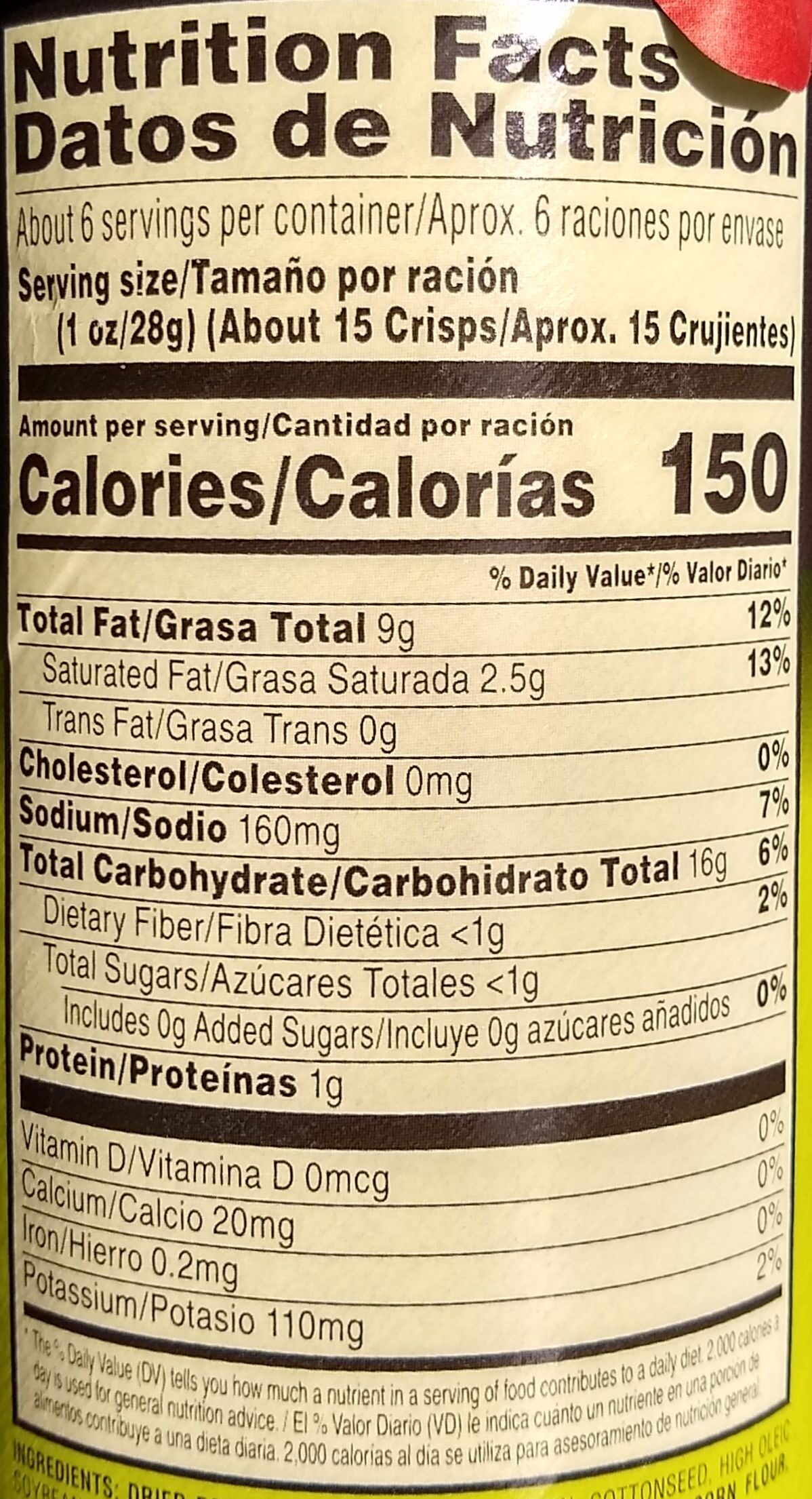 Screamin' Dill Pickle - Nutrition facts - en