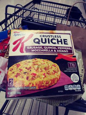 Sausage, quinoa, peppers, mozzarella & asiago crustless quiche, sausage, quinoa, peppers, mozzarella & asiago - Produit - en