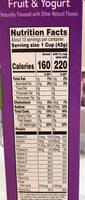 Kelloggs breakfast cereal - Nutrition facts - en